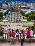 Plaza Espania, Βαρκελώνη, Ισπανία Στοκ εικόνες με δικαίωμα ελεύθερης χρήσης