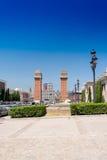Plaza Espania της Βαρκελώνης Ισπανία Στοκ Εικόνες