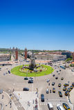 Plaza Espania της Βαρκελώνης Ισπανία Στοκ Φωτογραφίες