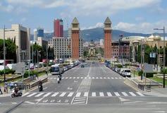 Plaza Espanya, Βαρκελώνη Στοκ Φωτογραφίες