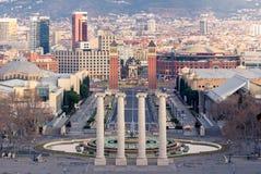 Plaza Espanya στη Βαρκελώνη Ισπανία Στοκ Εικόνες