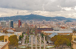 Plaza Espanya, Barcelona, Spain. Royalty Free Stock Photos