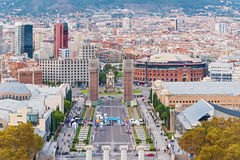 Plaza Espanya, Barcelona, Spain. Royalty Free Stock Images
