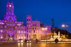 plaza för cibelesde madrid Royaltyfri Foto
