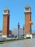 plaza för D espana Arkivfoton