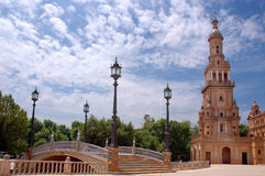 plaza för da espana Royaltyfria Bilder