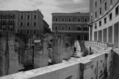 Plaza för St Oronzo i Lecce Arkivbilder