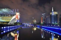 Plaza för stad för Guang zhou stadsblomma arkivbild