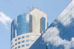 Plaza financière de Bucarest Photo stock