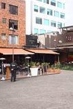 Plaza Foch en distrito turístico hemorroidal del La en Quito, Ecuador Imagen de archivo libre de regalías