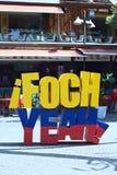 Plaza Foch in La Mariscal Tourist District in Quito, Ecuador Royalty Free Stock Photos