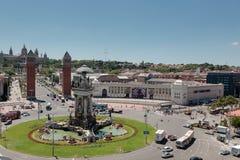 plaza för barcelona D de espana espanyapla Royaltyfria Foton
