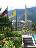 Plaza Francia in Caracas stock images