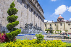 The Plaza Fundadores in Guadalajara Royalty Free Stock Photography