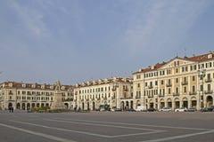Plaza Galimberti en Cuneo Imagenes de archivo