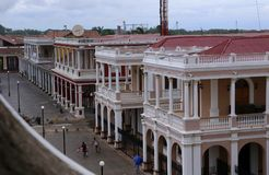Plaza in Granada, Nicaragua -Juli 2015 Royalty Free Stock Photos