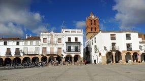 Plaza Grande, μεγάλο τετράγωνο, Zafra, επαρχία Badajoz, Εστρεμαδούρα, Ισπανία Στοκ εικόνα με δικαίωμα ελεύθερης χρήσης