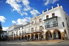 Plaza Grande, μεγάλο τετράγωνο, Zafra, επαρχία Badajoz, Εστρεμαδούρα, Ισπανία Στοκ Εικόνες