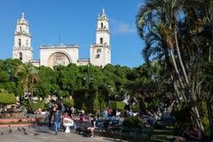 Plaza Grande στο Μέριντα, Yucatan, Μεξικό Στοκ εικόνα με δικαίωμα ελεύθερης χρήσης
