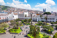Plaza Grande in Ecuador Stock Photography