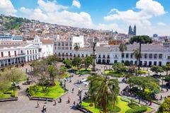 Plaza grande nell'Ecuador Fotografia Stock