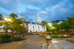 Plaza Grande in old town Quito, Ecuador Royalty Free Stock Photography