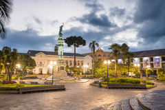 Plaza Grande in old town Quito, Ecuador Royalty Free Stock Photography