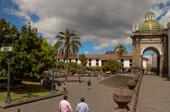 Plaza Grande - Quito, Ecuador. Independence Square (Spanish: Plaza de la Independencia, or Plaza Grande) is the principal and central public square of Quito Stock Image