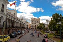 Plaza grande - Quito, Equateur Photos libres de droits