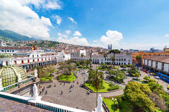 Plaza Grande View in Quito Stock Images