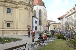 Plaza in Graz Stock Image