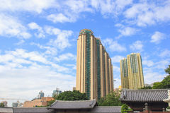 Plaza Hollywood near Nan Lian Garden in Hongkong. It is a building that is city's subway dimaond hill. Stock Images