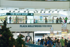 Plaza hollywood shopping mall Royalty Free Stock Images