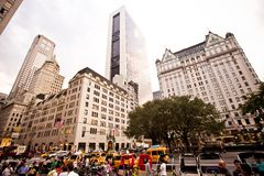 Plaza hotel on 5th Avenue in New York Stock Photos