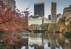 Plaza hotel in autumn Royalty Free Stock Photography