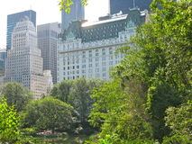 The Plaza Hotel, New York City. The Plaza Hotel from Central Park, New York City Stock Photo