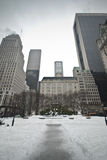 Plaza hotel during winter Stock Photography