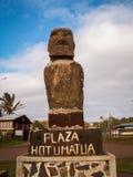 Plaza Hotumatua Moai Photographie stock libre de droits