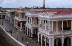 Plaza i Granada, Nicaragua - Juli 2015 royaltyfria foton