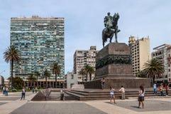 Plaza Independencia Μοντεβίδεο, Ουρουγουάη Στοκ Εικόνες