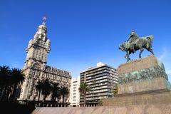 Plaza Independencia en Montevideo Fotografía de archivo libre de regalías