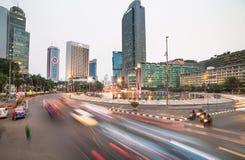 Plaza Indonesia nel distretto aziendale di Jakarta immagine stock libera da diritti