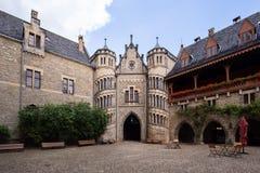 Plaza inside of the Marienburg castle stock images