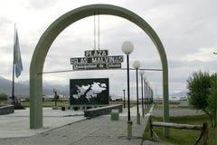 Plaza Islas les Malvinas dans Ushuaia, Argentine Photographie stock libre de droits