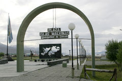 Plaza Islas Malvinas in Ushuaia, Argentina Fotografia Stock Libera da Diritti