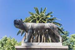 Plaza Italia del cuadrado de Italia en Mendoza, la Argentina Fotografía de archivo