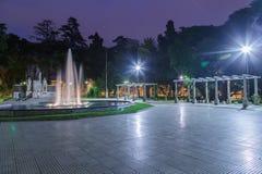 Plaza Italia Mendoza Argentina. A fountain and the monument at Plaza Italia, Mendoza, Argentina Stock Photo
