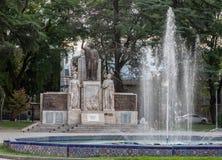 Plaza Italia Mendoza Argentina Arkivbilder