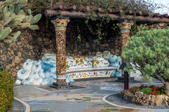 Plaza La Glorieta in Las Manchas, La Palma, Canary Islands Stock Photography