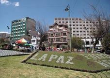Plaza - La Paz - Bolivie triangulaires Photographie stock
